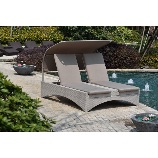 Dewitt Double Chaise Lounge with Cushion by Rosecliff Heights