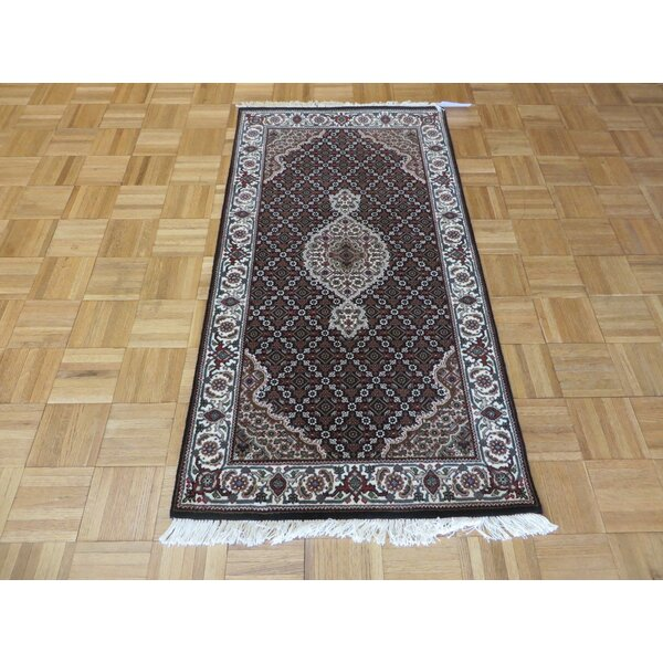 One-of-a-Kind Raiden Hand-Knotted Wool Black Area Rug by Astoria Grand