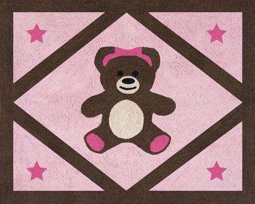 Teddy Bear Pink Area Rug by Sweet Jojo Designs