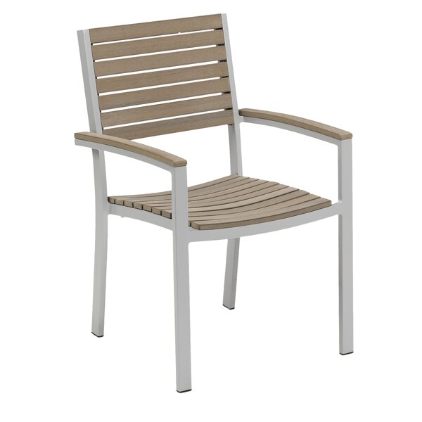 Caspian Stacking Teak Patio Dining Chair (Set of 2) by Sol 72 Outdoor