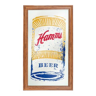 Trademark Global Hamm's Framed Logo Accent Mirror
