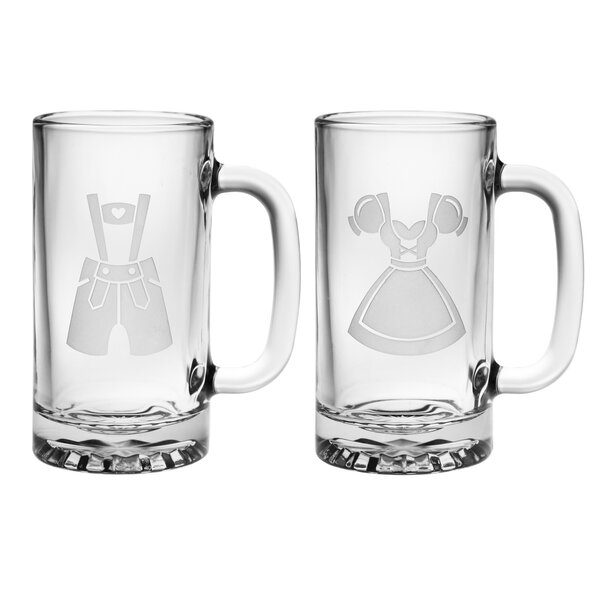 2 Piece Hansel and Gretel 16 Oz. Beer Mug Set by Susquehanna Glass