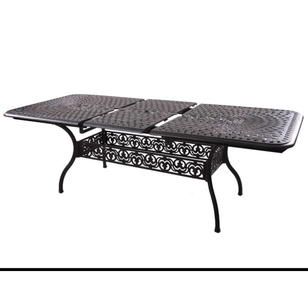 Fairmont Extendable Metal Dining Table by Astoria Grand