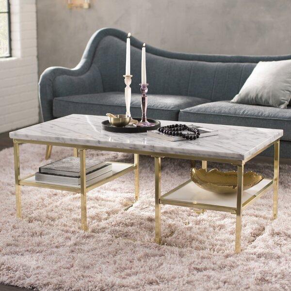 Cantu Marble Coffee Table by Mercer41 Mercer41