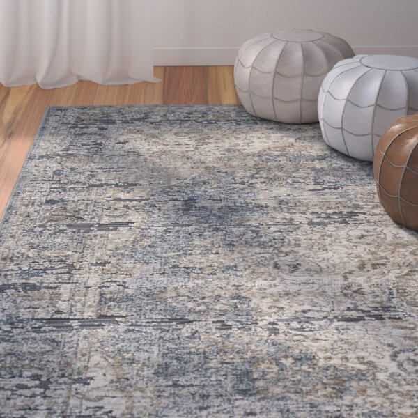 Helene Blue/Tan Area Rug by Bungalow Rose