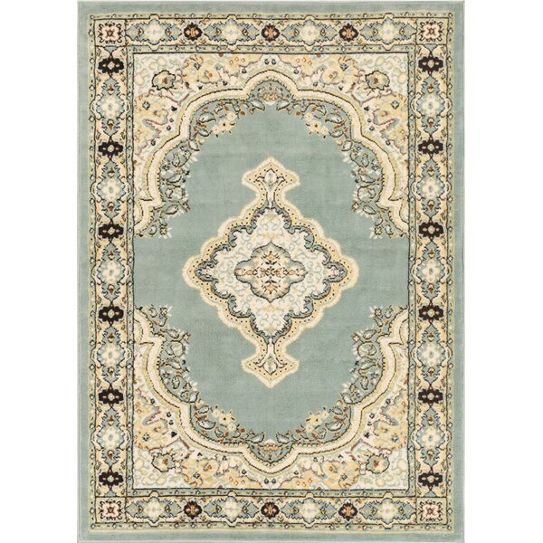 Bungalow Blue/Beige Area Rug by Charlton Home