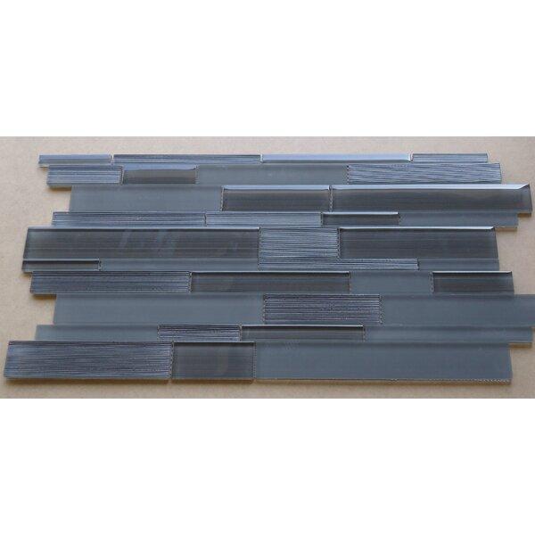 Studio Random Sized Glass Mosaic Tile in Charcoal Gray by Mulia Tile