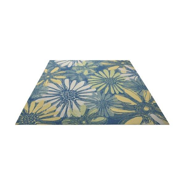 Galina Blue Indoor/OutdoorArea Rug by Beachcrest Home
