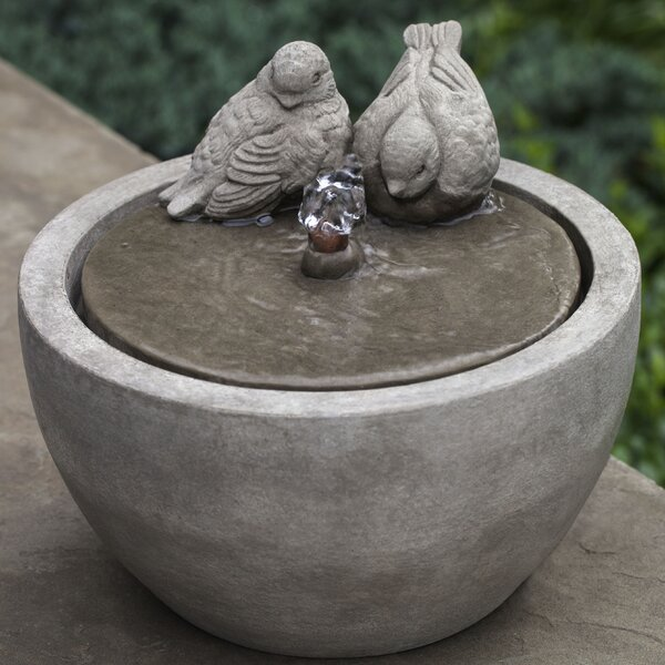 Bird Concrete Garden Terrace Fountain by Campania International