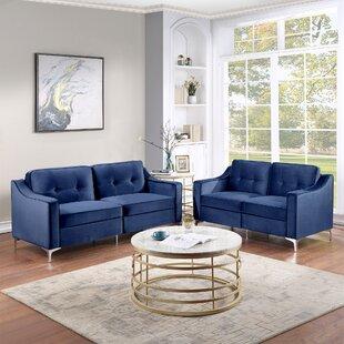 Lexia 2 Piece Velvet Living Room Set by Everly Quinn