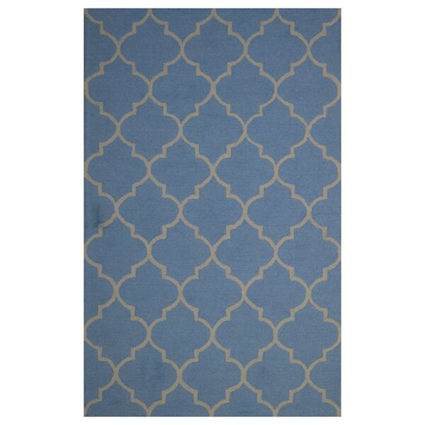 Wool Hand-Tufted Blue Area Rug by Eastern Weavers