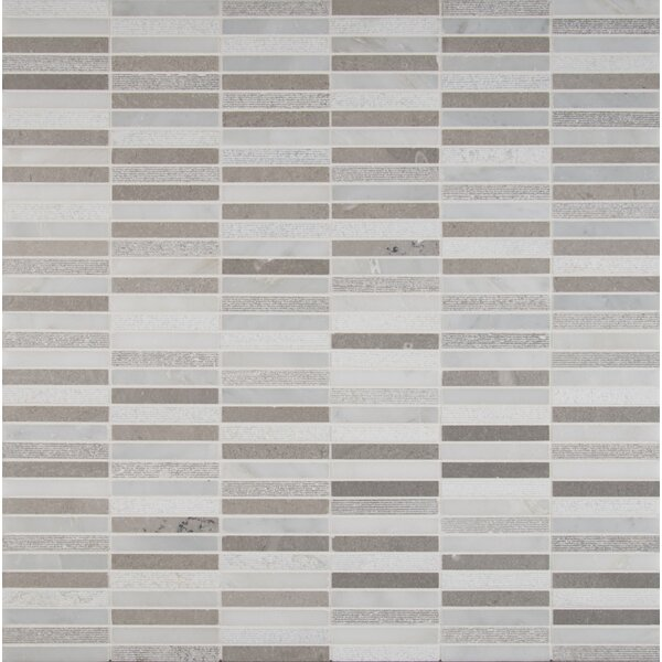 0.62 x 4 Marble Mosaic Tile in White by MSI