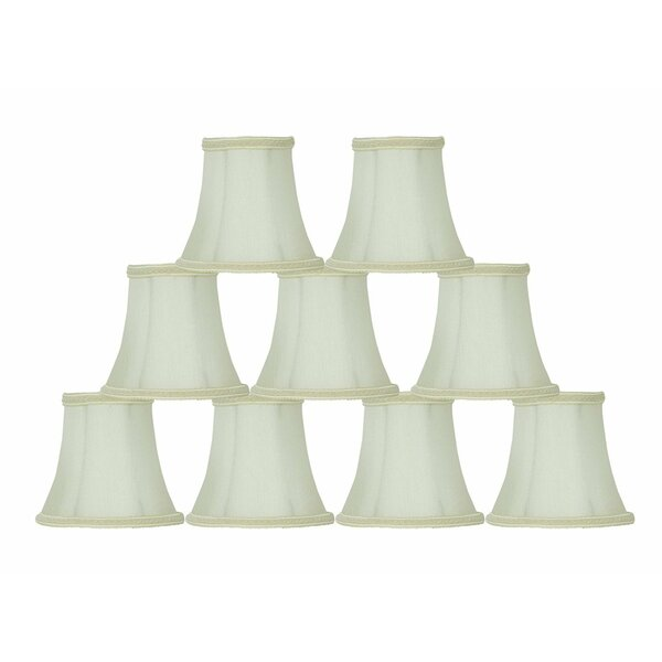 4.5 H Silk/Shantung Bell Lamp Shade ( Clip On ) in Eggshell (Set of 9)