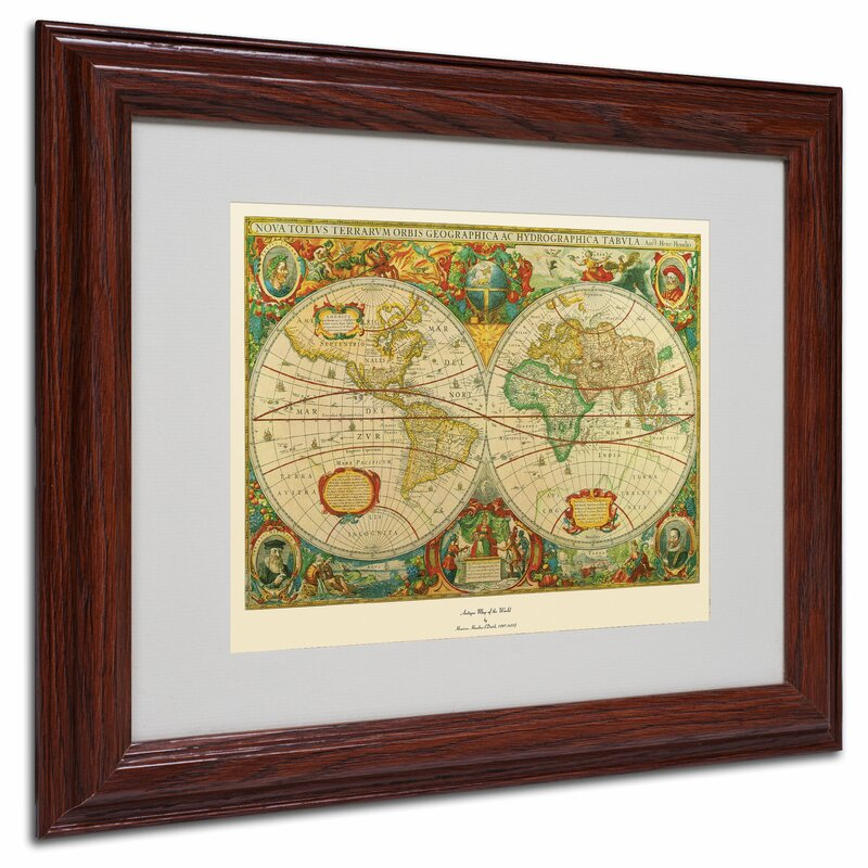 Trademark art old world map painting framed graphic art reviews old world map painting framed graphic art gumiabroncs Image collections