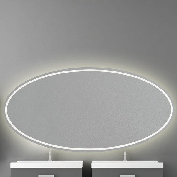 Front-Lit LED Frameless Lighted Vanity Mirror