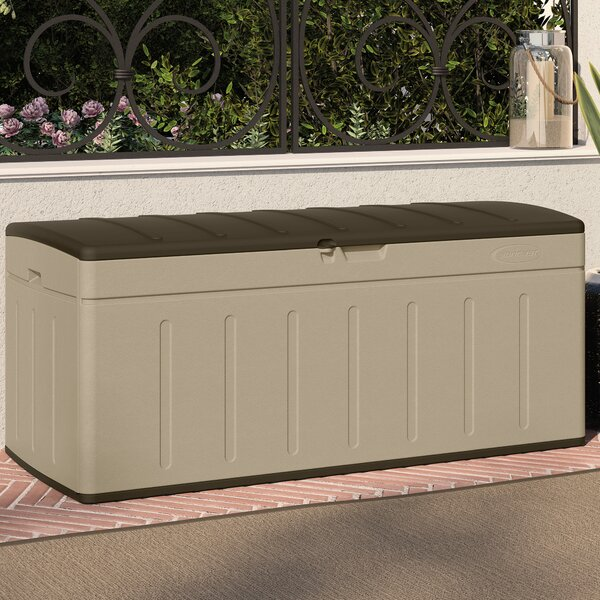 Blow Molded 99 Gallon Resin Deck Box by Suncast Suncast