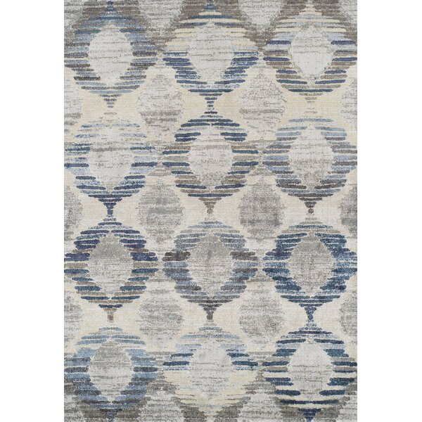 Moni Blue/Gray Area Rug by Ivy Bronx