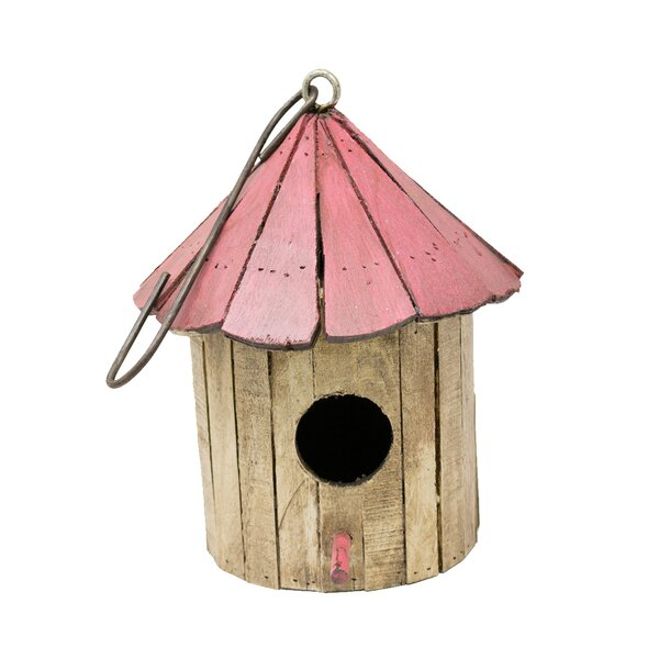 Wooden Mushroom 19 in x 9 in x 10 in Birdhouse by Rustic Arrow