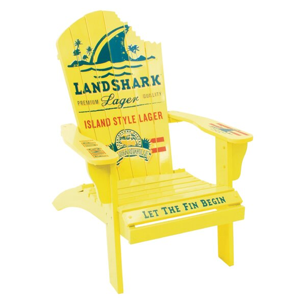 Landshark Solid Wood Adirondack Chair by Margaritaville