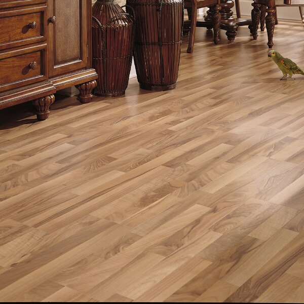 Bastian 8 x 51 x 8mm Walnut Laminate Flooring in Natural by Serradon
