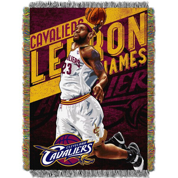 NBA Cleveland Cavaliers - Lebron James Player Woven Throw Blanket by Northwest Co.