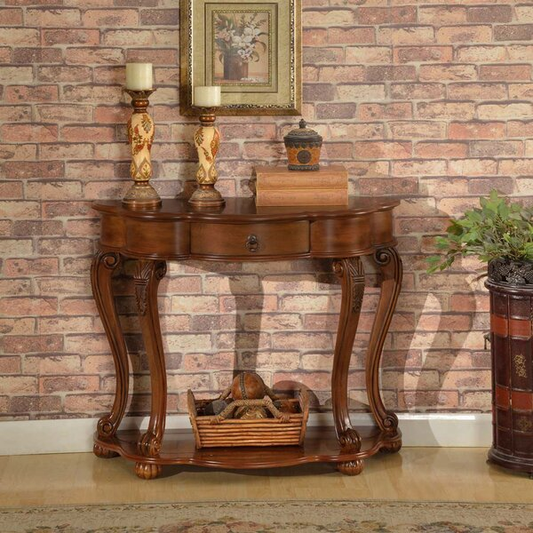 Emrick Old World Entry Console Table By Astoria Grand