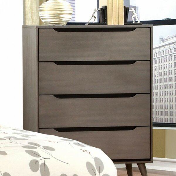 Durrah Mid-Century 4 Drawer Chest by George Oliver