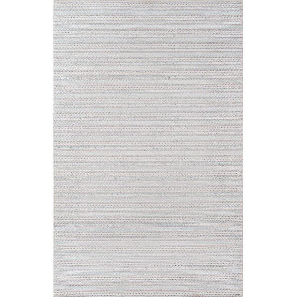 Elissa Hand-Woven Light Gray Area Rug by Gracie Oaks