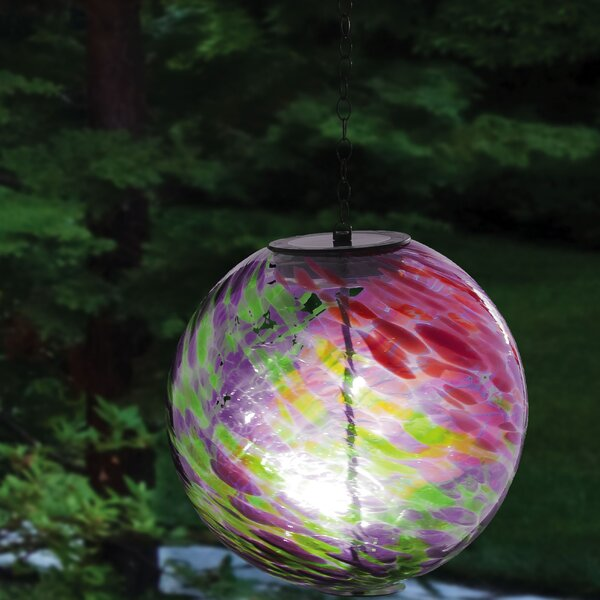 Hanging Solar Gazing Globe by Evergreen Flag & Garden