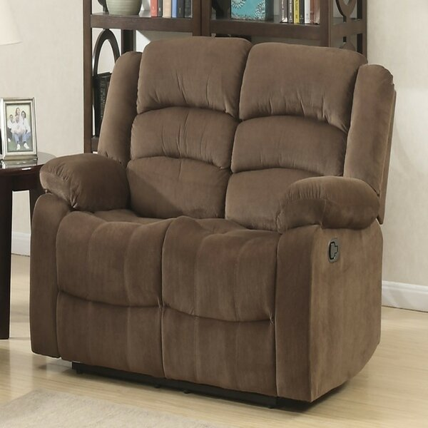 Mullens Leather Reclining Loveseat By Winston Porter