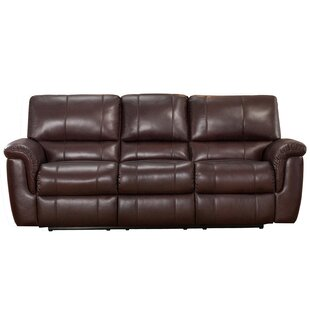 Deverell Leather Reclining Sofa