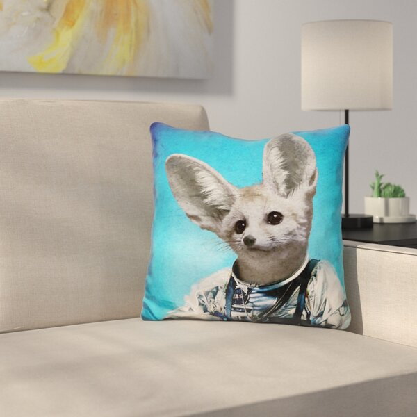 Captain Fennec Throw Pillow by East Urban Home