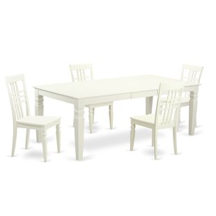 Beesley 5 Piece White Wood Dining Set ByDarby Home Co