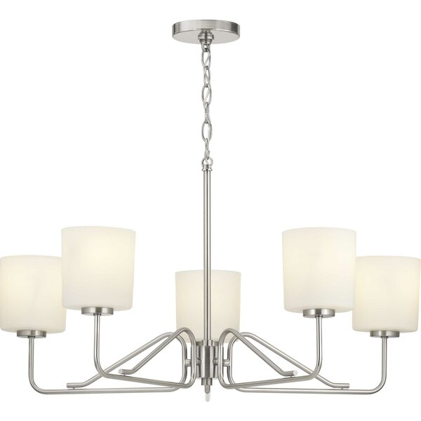 Aiana 5 - Light Shaded Classic / Traditional Chandelier by Wrought Studio Wrought Studio