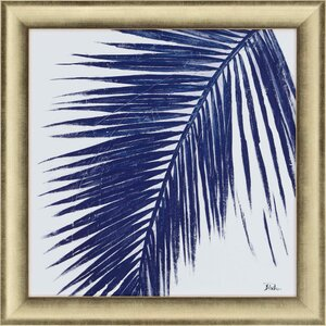 Indigo Baru Palm I by Pinto Framed Painting Print by Paragon