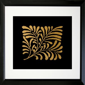 'Black Gold IV' by Bonnie Bruno Framed Graphic Art by Buy Art For Less