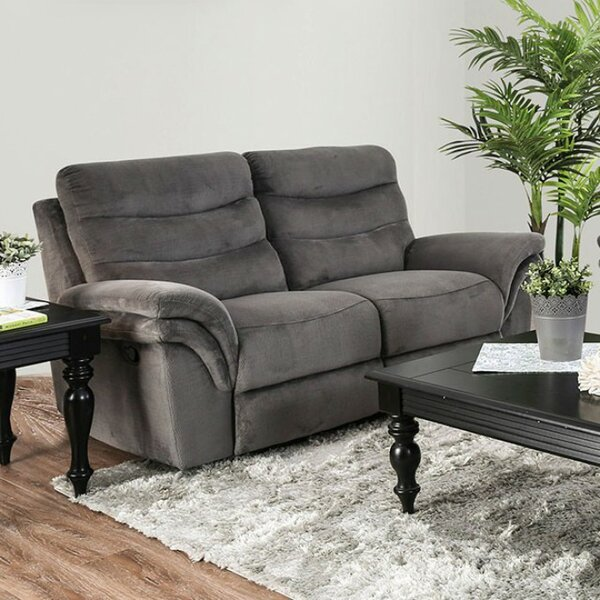 Helgeson Transitional Love Seat Manual Wall Hugger Recliner [Red Barrel Studio]