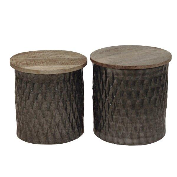 Grayton Drum Nesting Table Set by Bloomsbury Market Bloomsbury Market