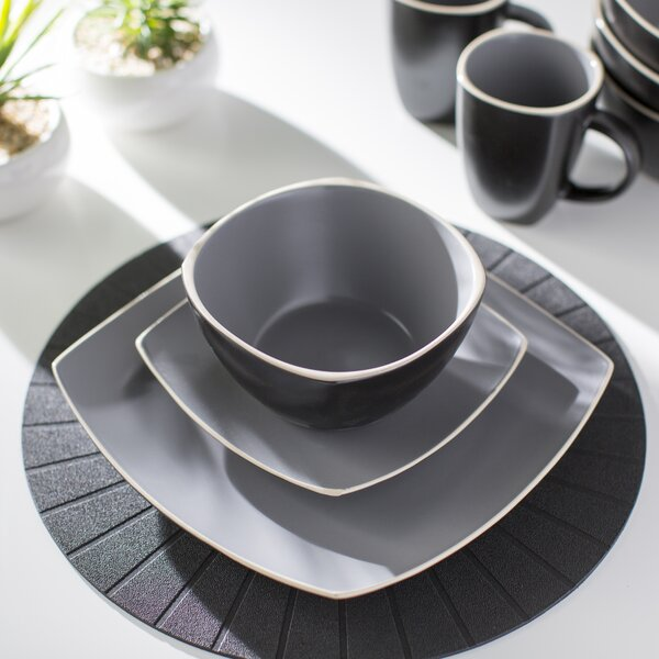 Kendell 16 Piece Dinnerware Set, Service for 4 by Mint Pantry