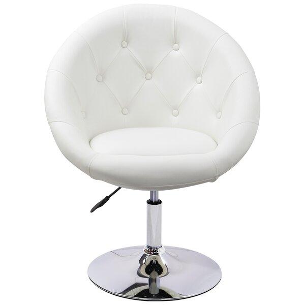 Giusta Vanity Swivel Barrel Chair by Mercer41 Mercer41