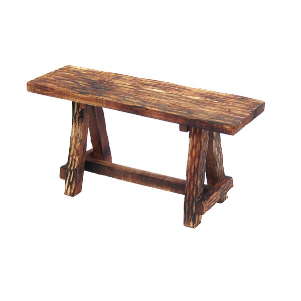 Gwaltney Wood Garden Bench by Loon Peak