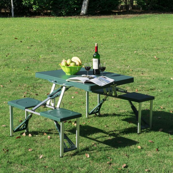 Abril Folding  Plastic/Resin Picnic Table by Freeport Park Freeport Park