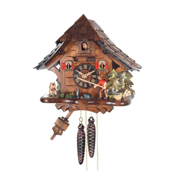 Weight-Driven Fishing Cuckoo Wall Clock by Loon Peak