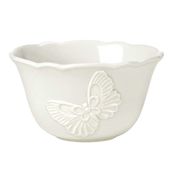 Meadow® 14 oz. Butterfly Carved Rice Bowl by Lenox