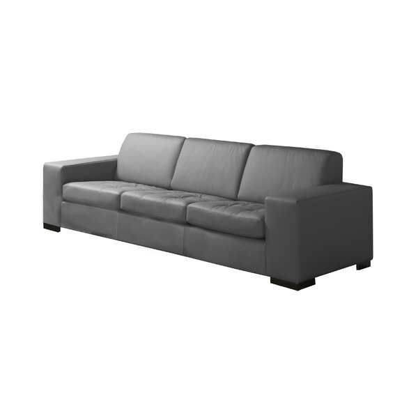 Wenlock Leather Sofa by Orren Ellis