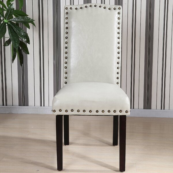 Castilian Leather Upholstered Dining Chair (Set of 2) by NOYA USA