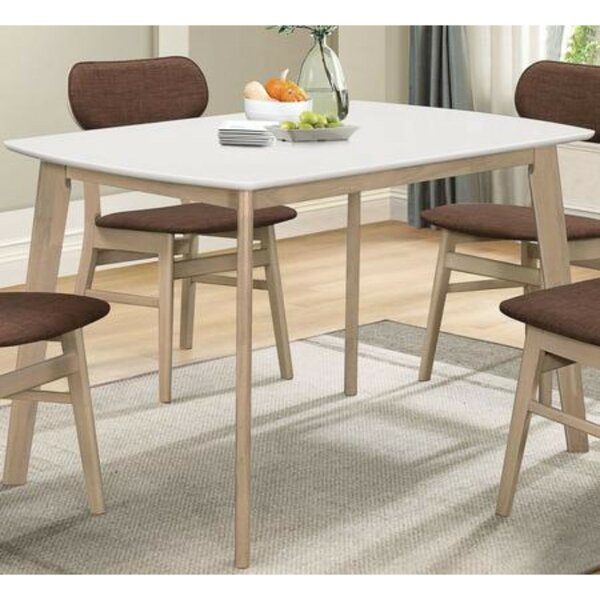 Macedonia Solid Wood Dining Table by Wrought Studio