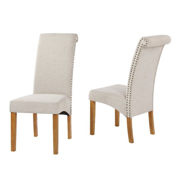 Stidham Linen Parsons Chair in Beige (Set of 6) by Canora Grey Canora Grey
