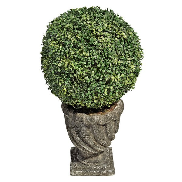 Boxwood Ball Floor Plant in Urn by Design Toscano