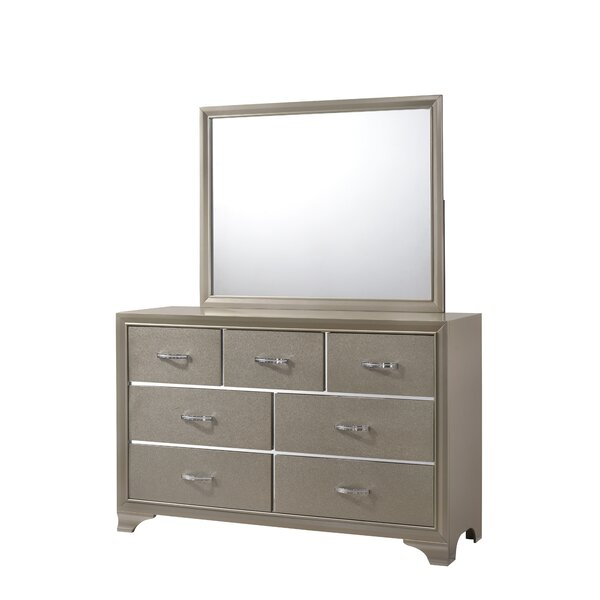 Plourde 7 Drawer Double Dresser by House of Hampton